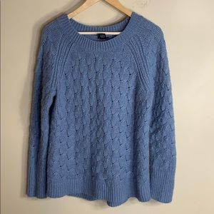 Ann Taylor factory blue sweater